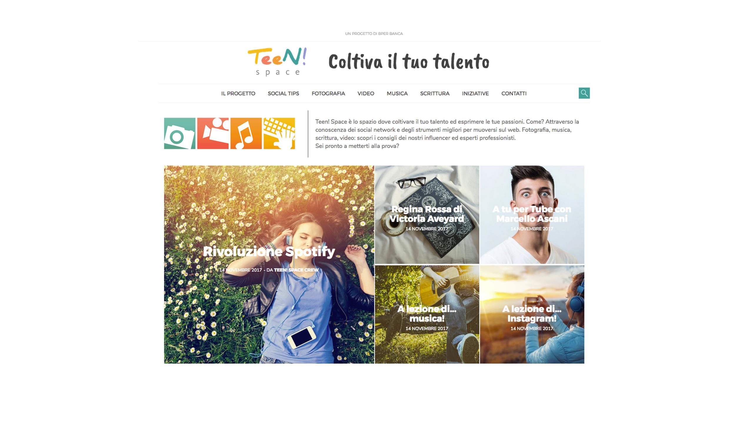 Teen web space
